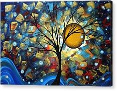 Serenity Falls By Madart Acrylic Print by Megan Duncanson