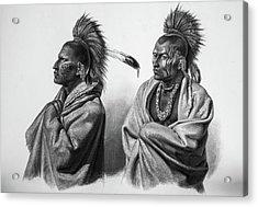 Serious Massika Saki Native Americans Acrylic Print by Douglas Barnett