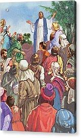 Sermon On The Mount Acrylic Print by Valer Ian