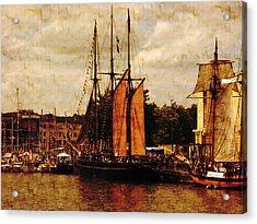 Setting Sail From Bristol Acrylic Print by Brian Roscorla