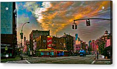 Seventh And Bleeker At Sunrise Nyc Acrylic Print by Chris Lord