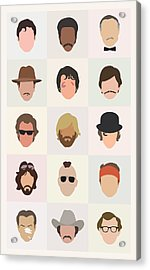 Seventies Movie Dudes Acrylic Print by Mitch Frey