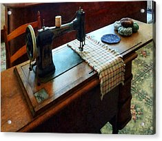 Sewing Machine And Pincushions Acrylic Print by Susan Savad