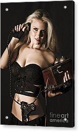 Sexy Blond Secret Agent Acrylic Print by Jorgo Photography - Wall Art Gallery