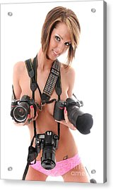 Sexy Photographer 3 Acrylic Print by Jt PhotoDesign