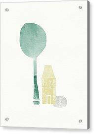 Shade Tree- Art By Linda Woods Acrylic Print by Linda Woods