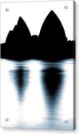 Shaded Peaks  Acrylic Print by Az Jackson