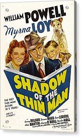 Shadow Of The Thin Man, Myrna Loy Acrylic Print by Everett