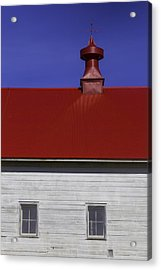 Shaker Red Roof Acrylic Print by Garry Gay