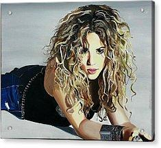 Shakira  Acrylic Print by Gitanjali  Sood