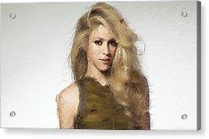 Shakira Acrylic Print by Iguanna Espinosa
