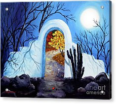 Shamans Gate To Autumn Acrylic Print by Laura Iverson