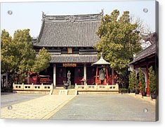 Shanghai Confucius Temple - Wen Miao - Main Temple Building Acrylic Print by Christine Till