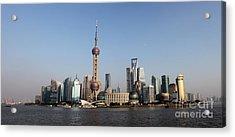 Shanghai Skyline Acrylic Print by Thomas Marchessault