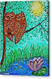 Shared Moonlight Acrylic Print by Sarah Loft