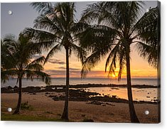 Sharks Cove Sunset 3 - Oahu Hawaii Acrylic Print by Brian Harig