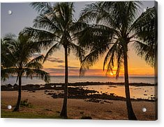 Sharks Cove Sunset 4 - Oahu Hawaii Acrylic Print by Brian Harig