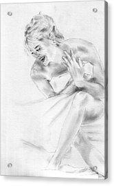 Sharon Stone Acrylic Print by Jessica Rose