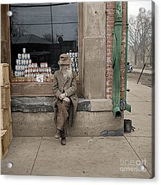 Shawneetown Colourised Acrylic Print by Russ Brown
