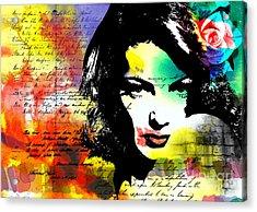 She Knew Acrylic Print by Ramneek Narang