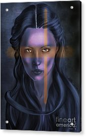She... The Eyes. Acrylic Print by Gabriela Tasiro