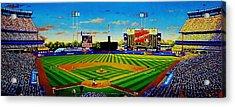 Shea Stadium Acrylic Print by T Kolendera