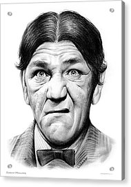 Shemp Howard Acrylic Print by Greg Joens
