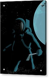 Shepard In The Rough Acrylic Print by Tom Dickson