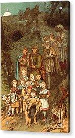 Shepherds On Their Way To Bethlehem Acrylic Print by Victor Paul Mohn