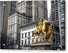 Sherman In The Grand Army Plaza Acrylic Print by John Rizzuto