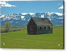 Shields Valley Abandoned Farm Ranch House Acrylic Print by Bruce Gourley