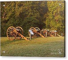 Shiloh Cannons Acrylic Print by David Bearden