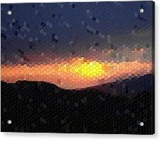 Mosaic Acrylic Print featuring the photograph Shining Through by Roberto Alamino