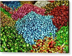 Shiny Sweets In Spice Market Acrylic Print by Image by Damian Bettles