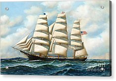 Ship Young America At Sea Acrylic Print by Pg Reproductions