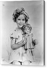 Shirley Temple With A Shirley Temple Acrylic Print by Everett
