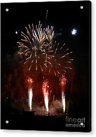 Shooting The Fireworks Acrylic Print by David Lee Thompson