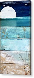 Shore And Moonrise Acrylic Print by Mindy Sommers