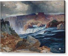 Shoshone Falls Idaho Acrylic Print by Thomas Moran