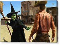 Showdown Acrylic Print by James W Johnson