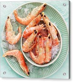 Shrimp On A Plate Acrylic Print by Anfisa Kameneva
