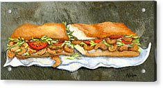 Shrimp Po Boy Acrylic Print by Elaine Hodges