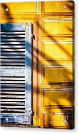 Shutter And Ornate Wall Acrylic Print by Silvia Ganora