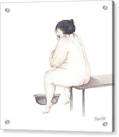 Shy Acrylic Print by Soosh