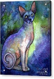 Shynx Cat 2 Painting Acrylic Print by Svetlana Novikova
