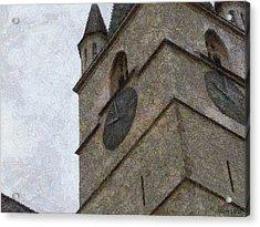 Sibiu Clock Tower Acrylic Print by Jeff Kolker