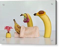 Sick Banana Acrylic Print by Jacqueline Hammer