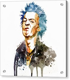 Sid Vicious Watercolor Acrylic Print by Marian Voicu