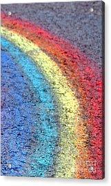 Sidewalk Rainbow  Acrylic Print by Olivier Le Queinec