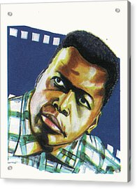 Sidney Poitier Acrylic Print by Emmanuel Baliyanga